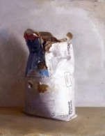 Contemporary Painter Christopher Gallego-Image Title-Bag of Plaster