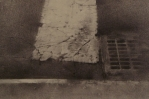 Artist Christopher, American 1959-Drawing-Title-10th Avenue Crosswalk detail, Charcoal and Graphite on Paper