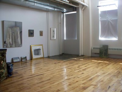 Christopher Gallego Painting Studio, Brooklyn, NY, 2009