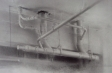 Ceiling Pipes, 2011, charcoal & graphite on paper, 14 x 17 in.