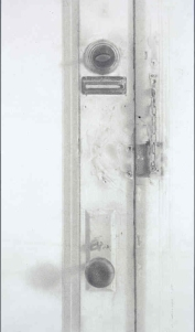 Christopher Gallego, American, b. 1959, 2008, Door, Jersey City, detail, charcoal & graphite on paper