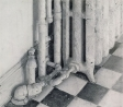 Kitchen Radiator, 1997, charcoal & graphite on paper, 21 x 20 in.