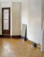 Christopher Gallego, American, b. 1959, Studio Interior, 2011, Oil on canvas, 51 x 39 in.