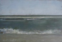 Christopher Gallego, American b. 1959, Surf, 2011, Oil on board 9 x 12 in