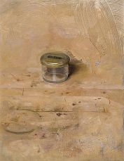 Christopher Gallego, American b. 1959, Small Studio Jar, 2008, Oil on board, 13 x 8 in.